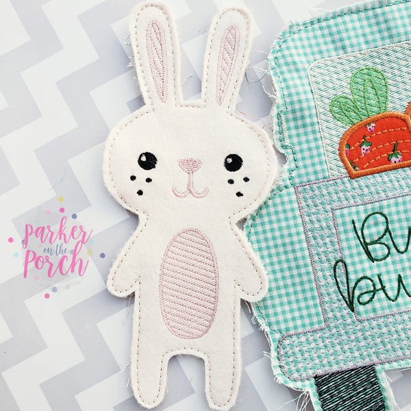 Digital Download- Bunny Banner - in the hoop machine embroidery