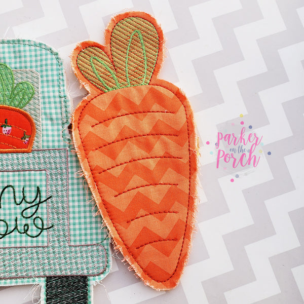 Digital Download- Carrot Banner - in the hoop machine embroidery