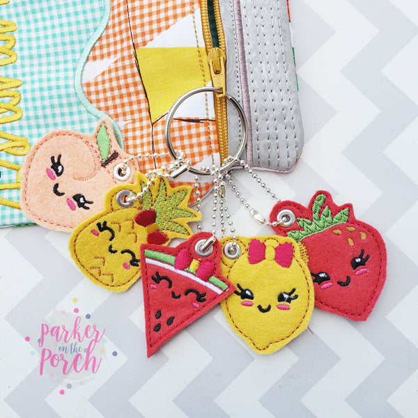 Digital Download - Fruit Charm Bundle - in the hoop machine embroidery ITH pattern
