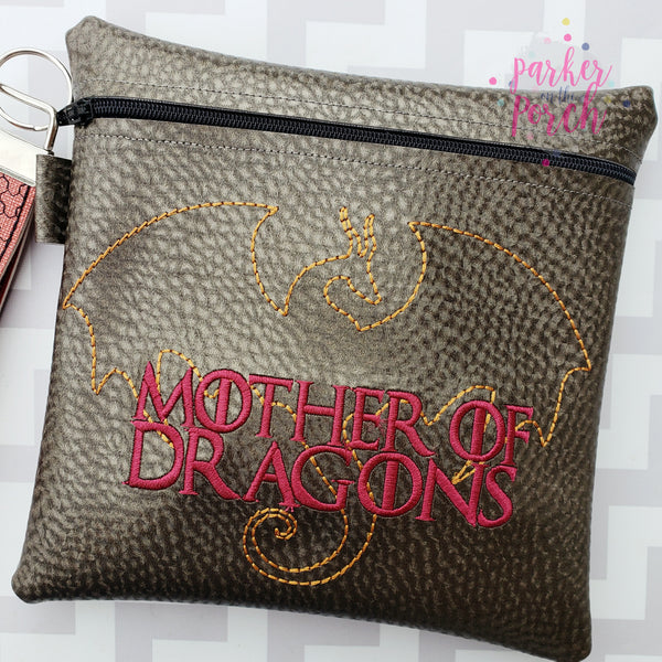 Digital Download- Mother of Dragons Embroidery Fill - in the hoop machine embroidery ITH pattern