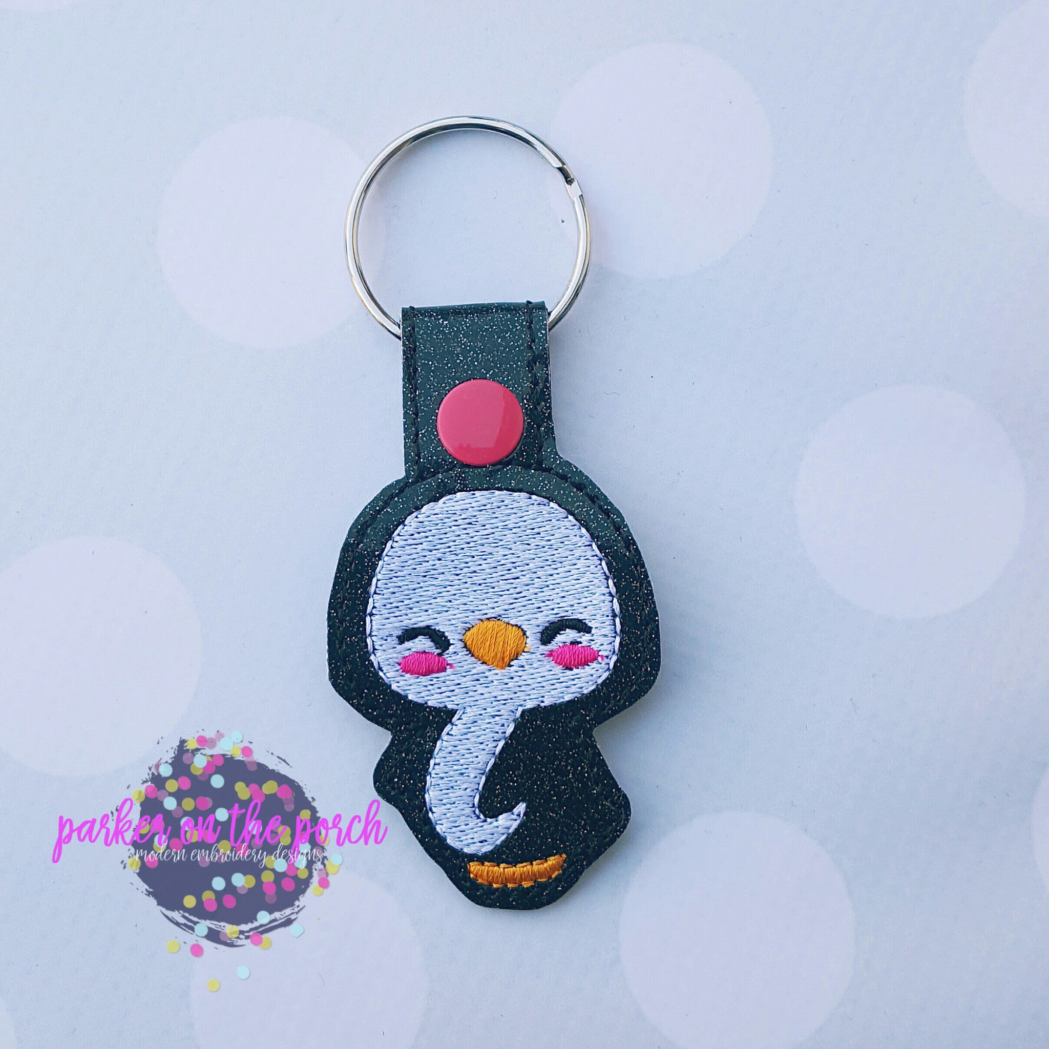 Digital Download- Penguin Snaptab - in the hoop machine embroidery