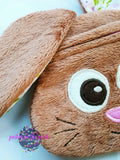 Digital Download - Bunny Zipper Bag - in the hoop machine embroidery ITH pattern