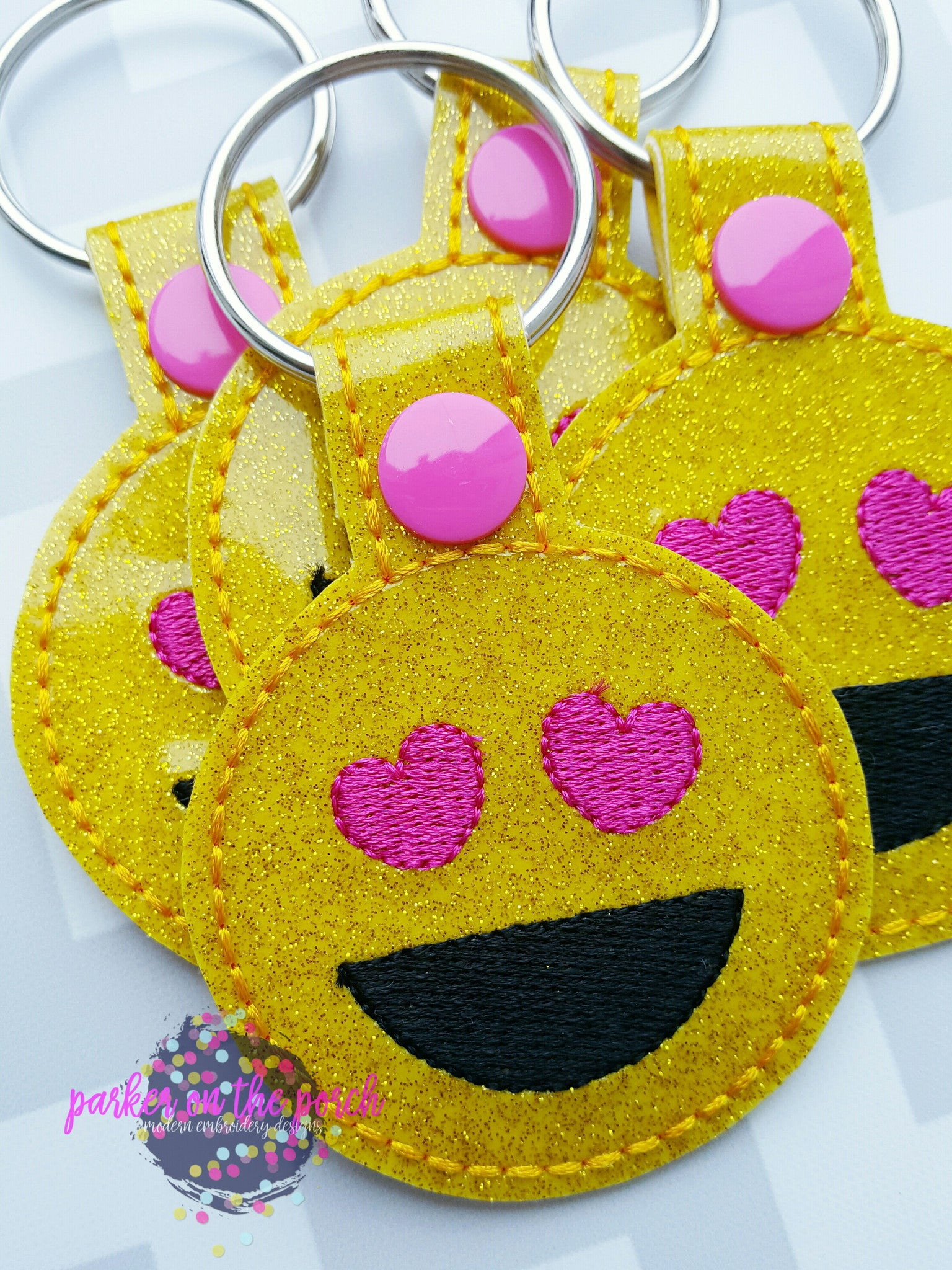 Digital Download- Emoji Love Snaptab - in the hoop machine embroidery
