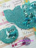 Digital Download- Filled Mermaid Planner Band & Planner Clip set - in the hoop machine embroidery
