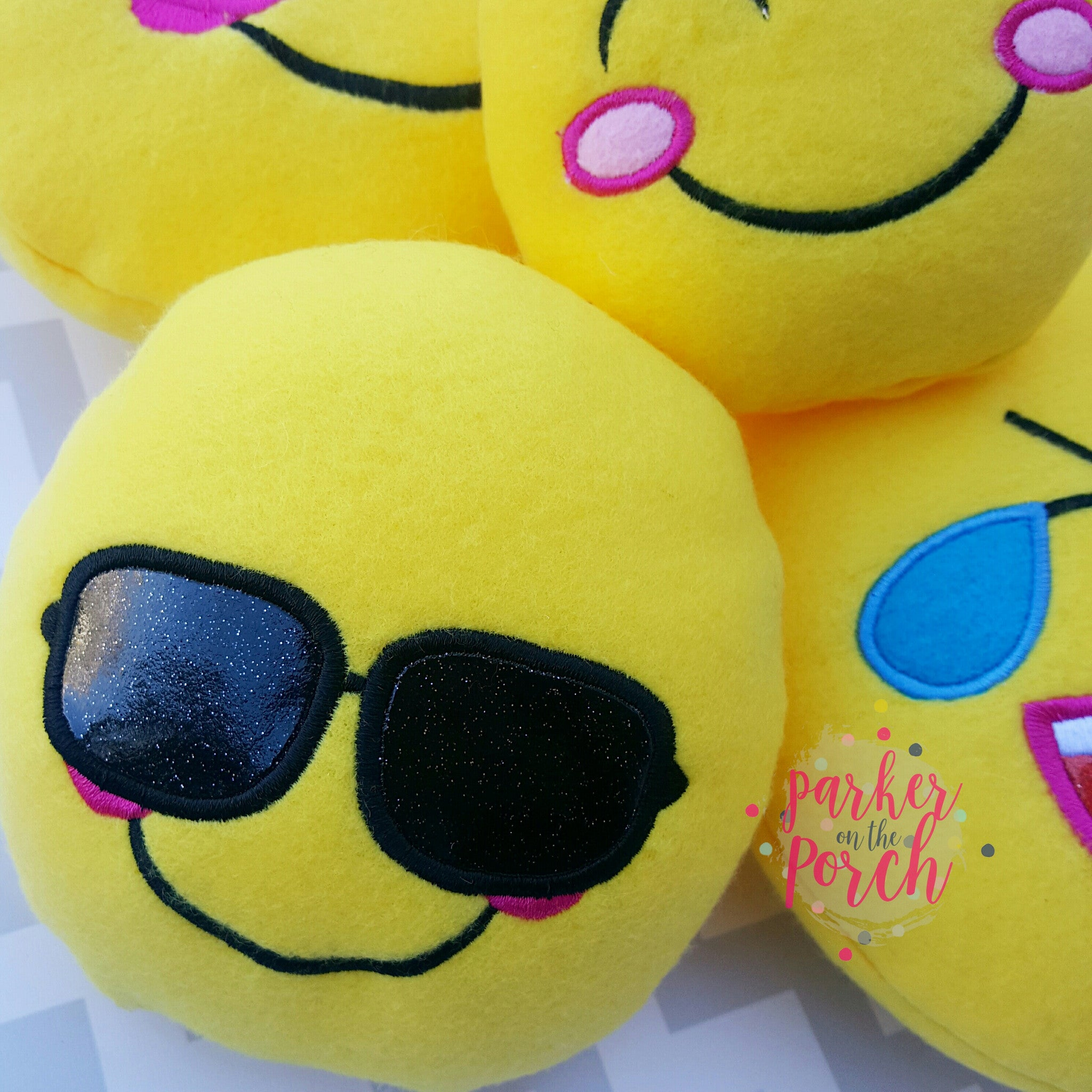Digital Download- ITH Emoji Stuffies- Set A - Parker on the Porch