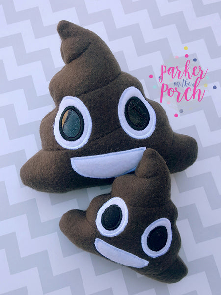Digital Download- ITH Emoji Poop Stuffie - Parker on the Porch