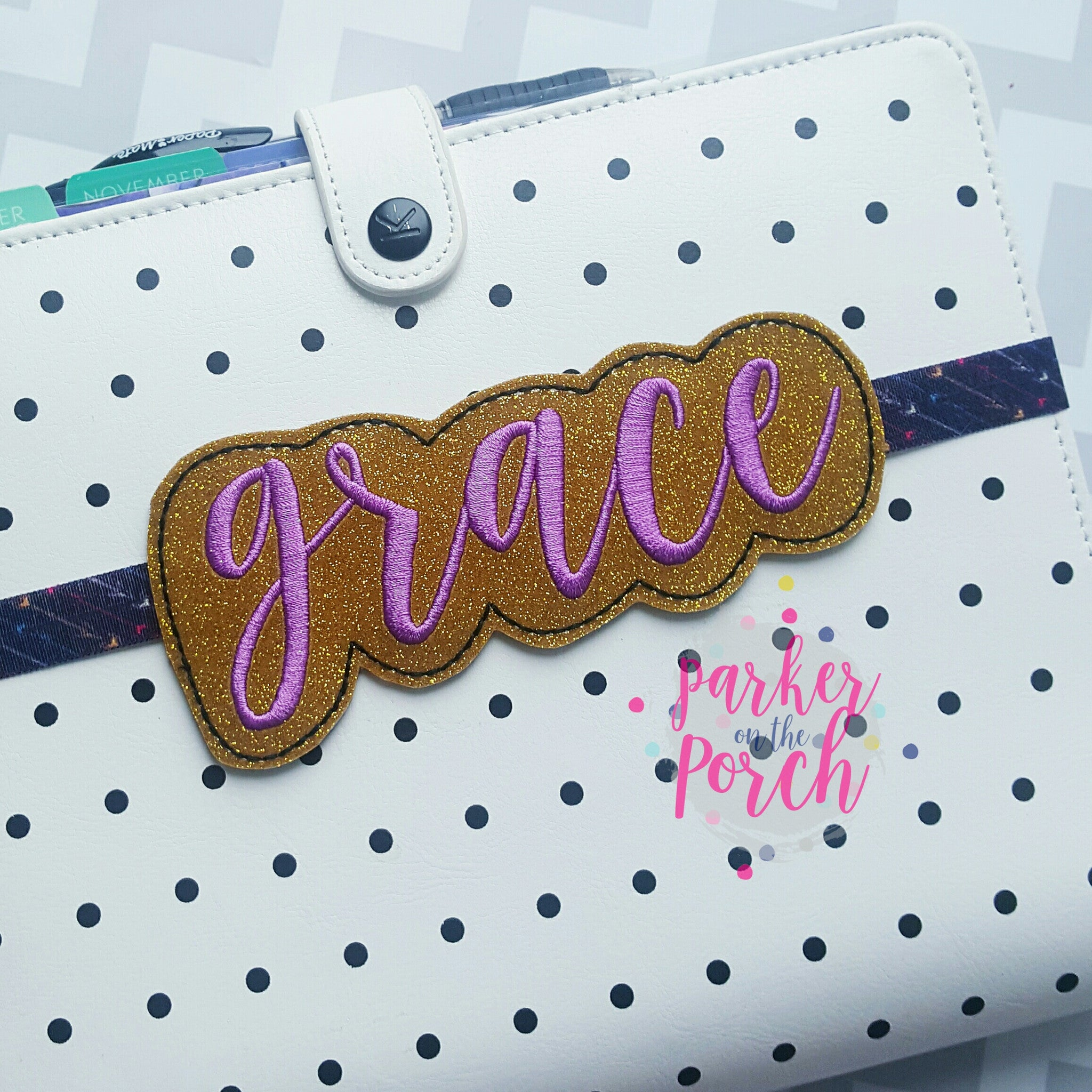 Digital Download- Grace Planner Band - in the hoop machine embroidery