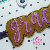 Digital Download- Grace Planner Band - in the hoop machine embroidery ITH pattern