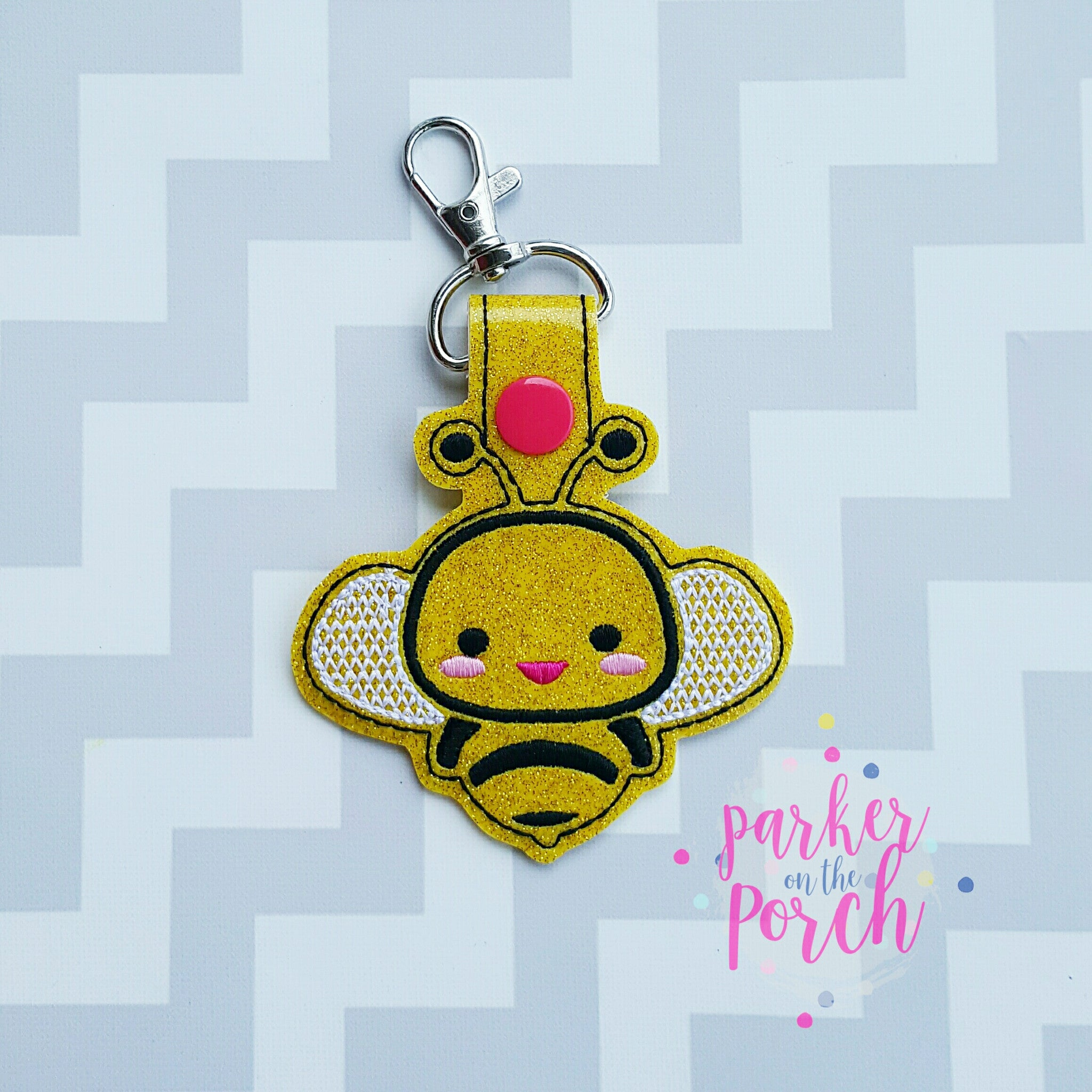 Digital Download- Buzz Bee Snaptab - in the hoop machine embroidery