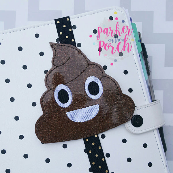 Digital Download- Emoji Poop Planner Band - in the hoop machine embroidery ITH pattern