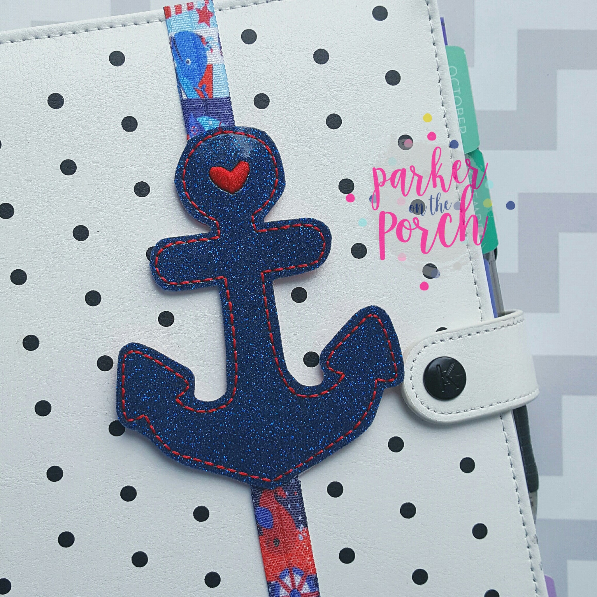 Digital Download - Anchor Planner Band - in the hoop machine embroidery