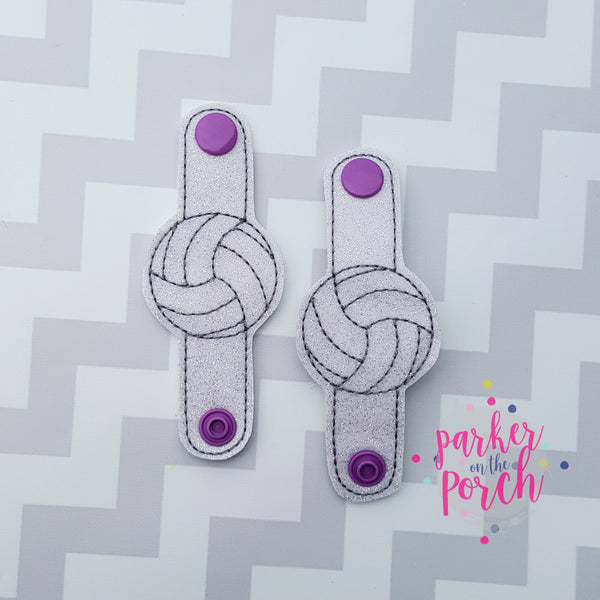 Digital Download- Volleyball Cord Keepers - in the hoop machine embroidery