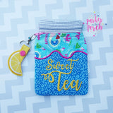 Digital Download - Mason Jar Zipper Bag - in the hoop machine embroidery ITH pattern