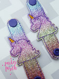 Digital Download - Unicorn Cord Keepers - in the hoop machine embroidery ITH pattern