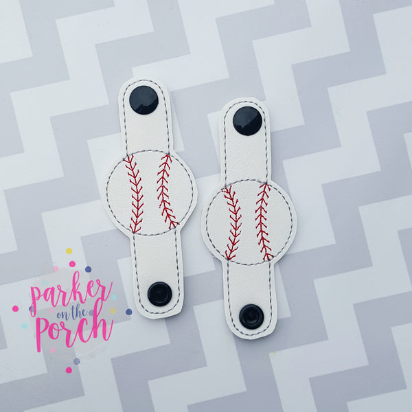 Digital Download- Baseball Cord Keepers - in the hoop machine embroidery