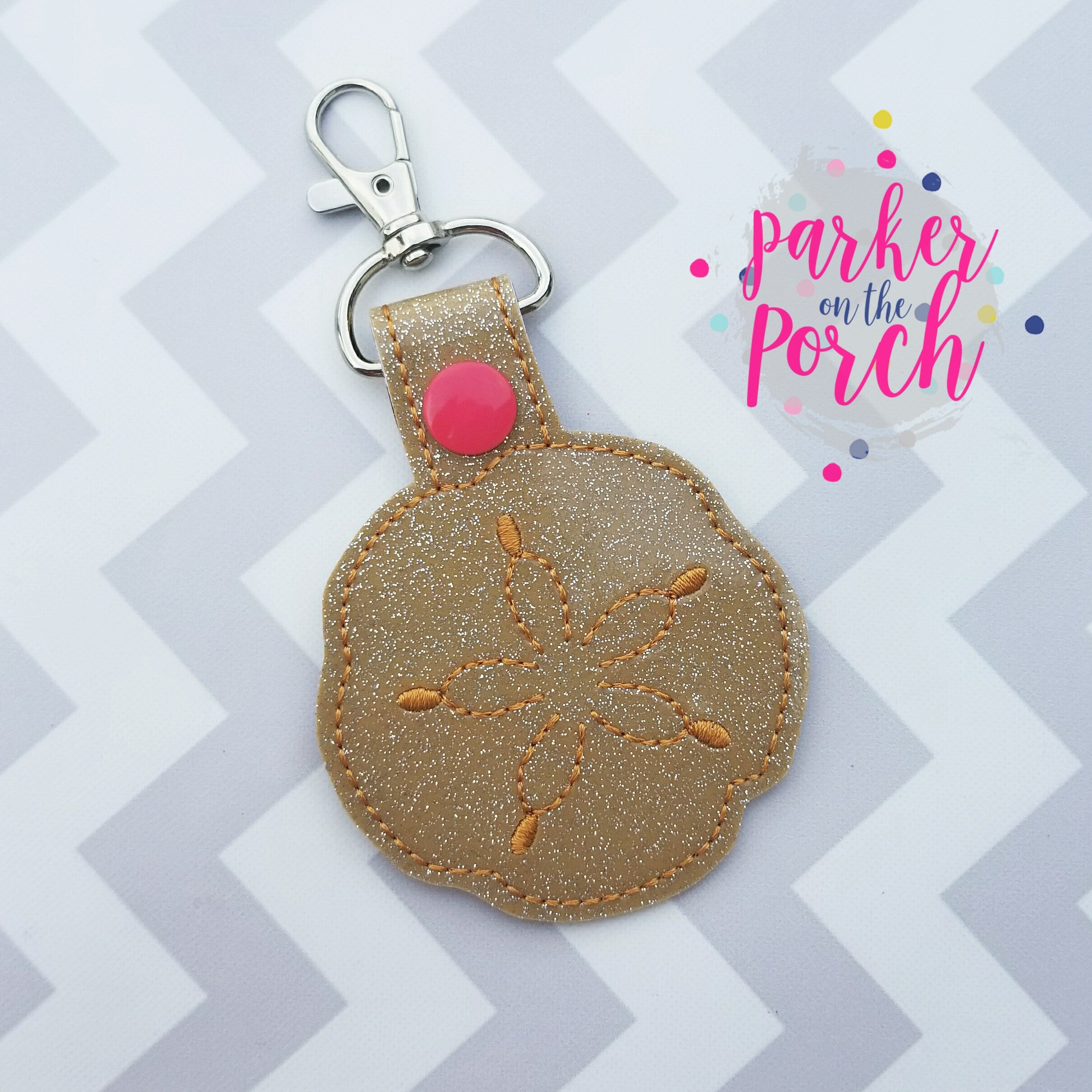 Digital Download- Sand Dollar Snaptab - in the hoop machine embroidery