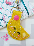 Digital Download - Lemon Snaptab - in the hoop machine embroidery ITH pattern