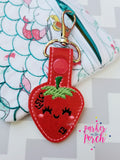 Digital Download- Strawberry Snaptab - in the hoop machine embroidery