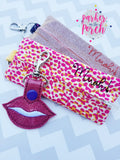 Digital Download - Beauty Bag Zipper Pouch - in the hoop machine embroidery ITH pattern