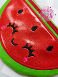 Digital Download - Watermelon & Lemon Zipper Bag - in the hoop machine embroidery ITH pattern