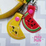 Digital Download- Watermelon & Lemon Zipper Bag - in the hoop machine embroidery