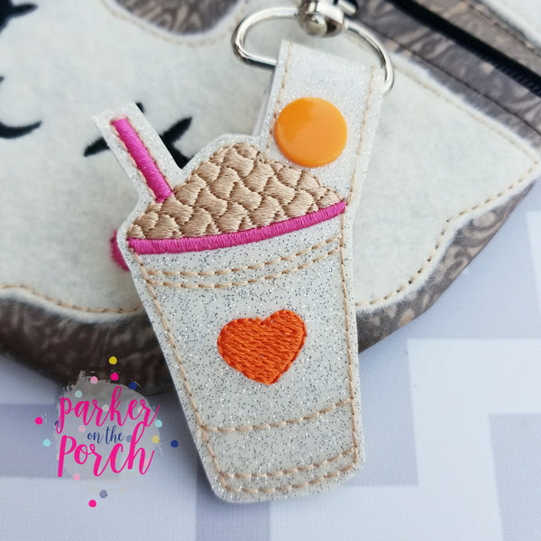 Digital Download - Cold Coffee Snaptab - in the hoop machine embroidery ITH pattern