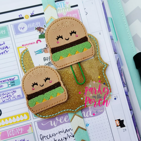 Digital Download- Cheeseburger Planner Clip & Feltie Set