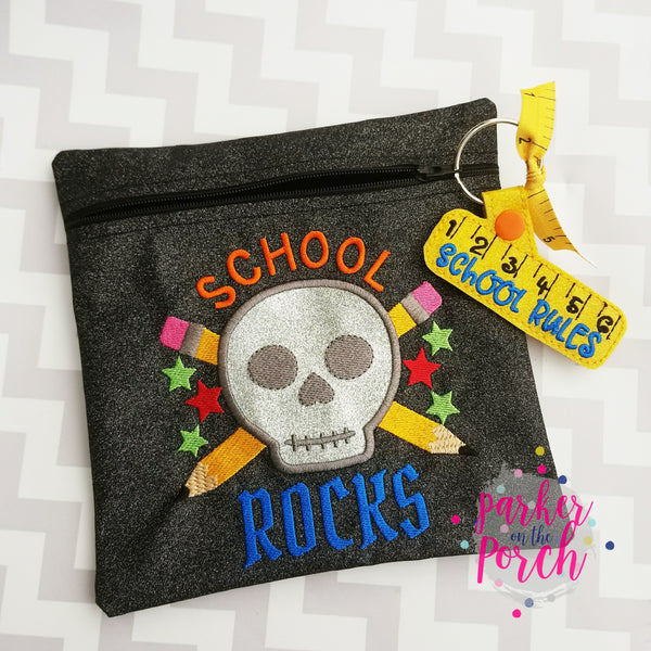 Digital Download- School Rocks Embroidery Fill & Applique - in the hoop machine embroidery ITH pattern
