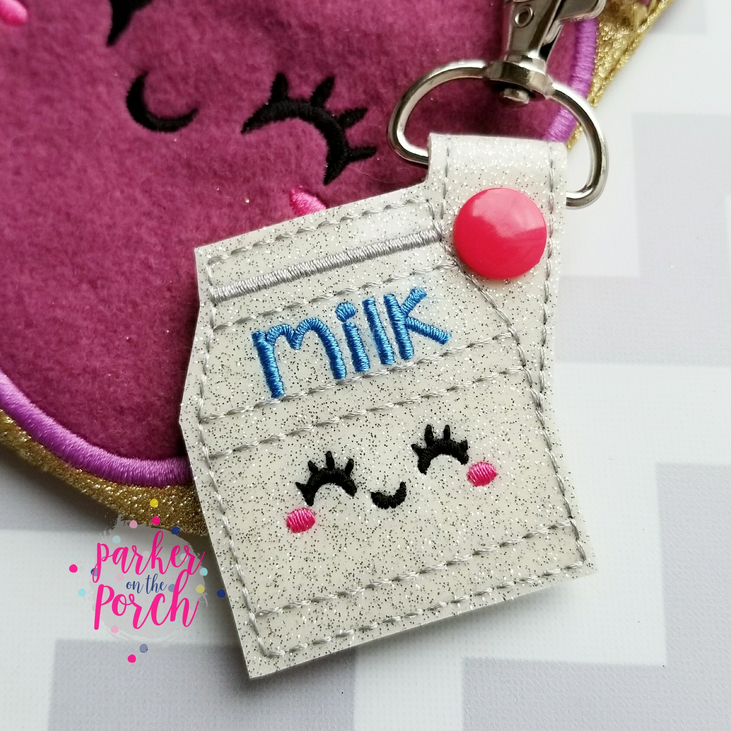 Digital Download- Milk Carton Snaptab - in the hoop machine embroidery