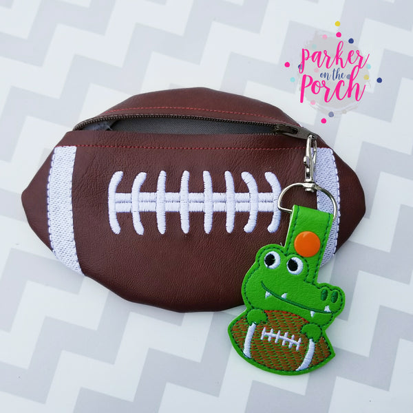 Digital Download- Football Zipper Bag
