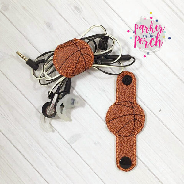 Digital Download- Basketball Cord Keepers - in the hoop machine embroidery