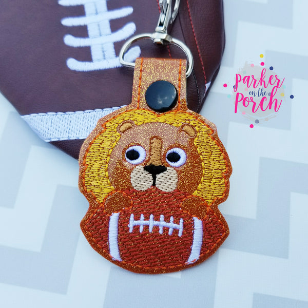 Digital Download- Mascot Lion Snaptab - in the hoop machine embroidery ITH pattern
