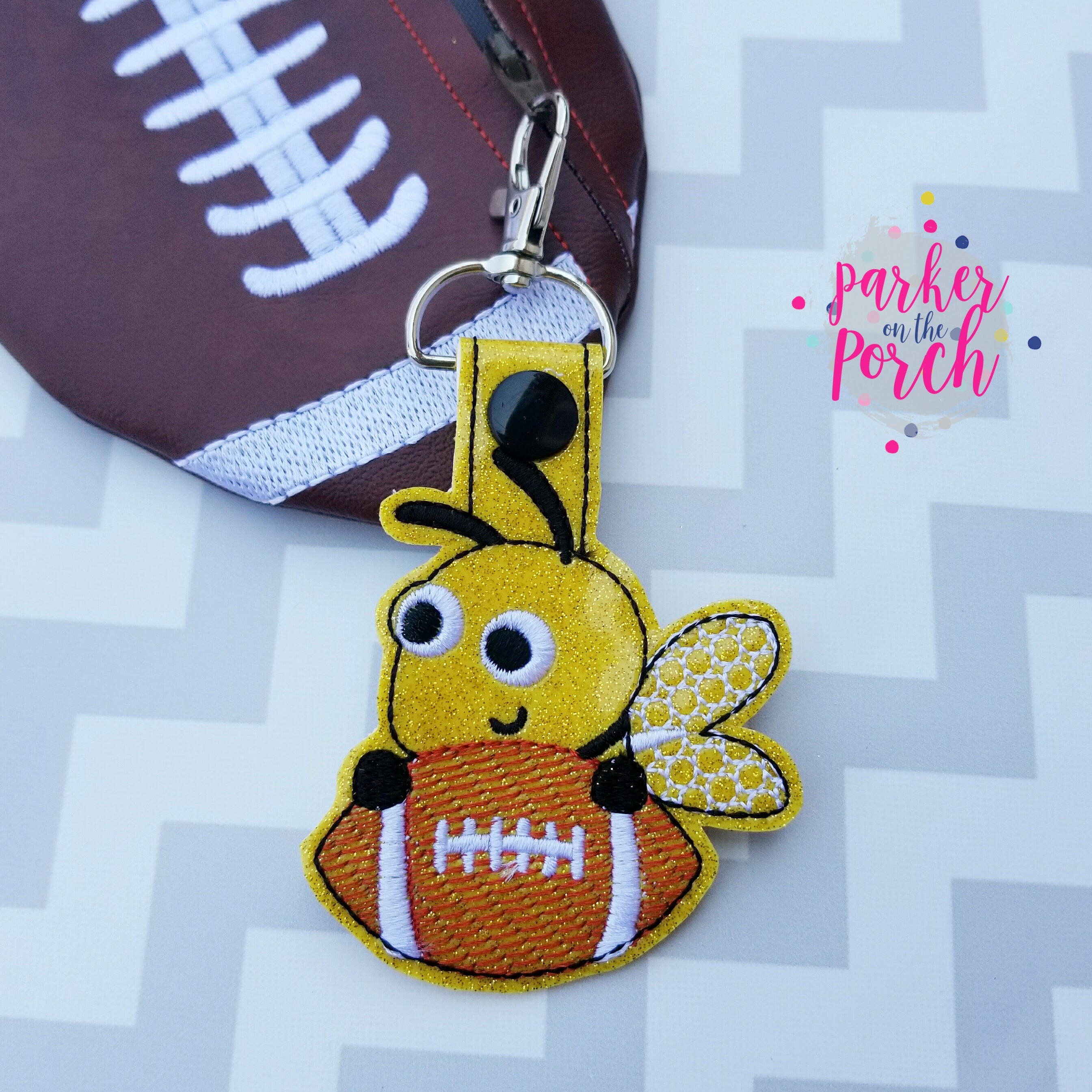 Digital Download- Mascot Bee Snaptab - in the hoop machine embroidery ITH pattern