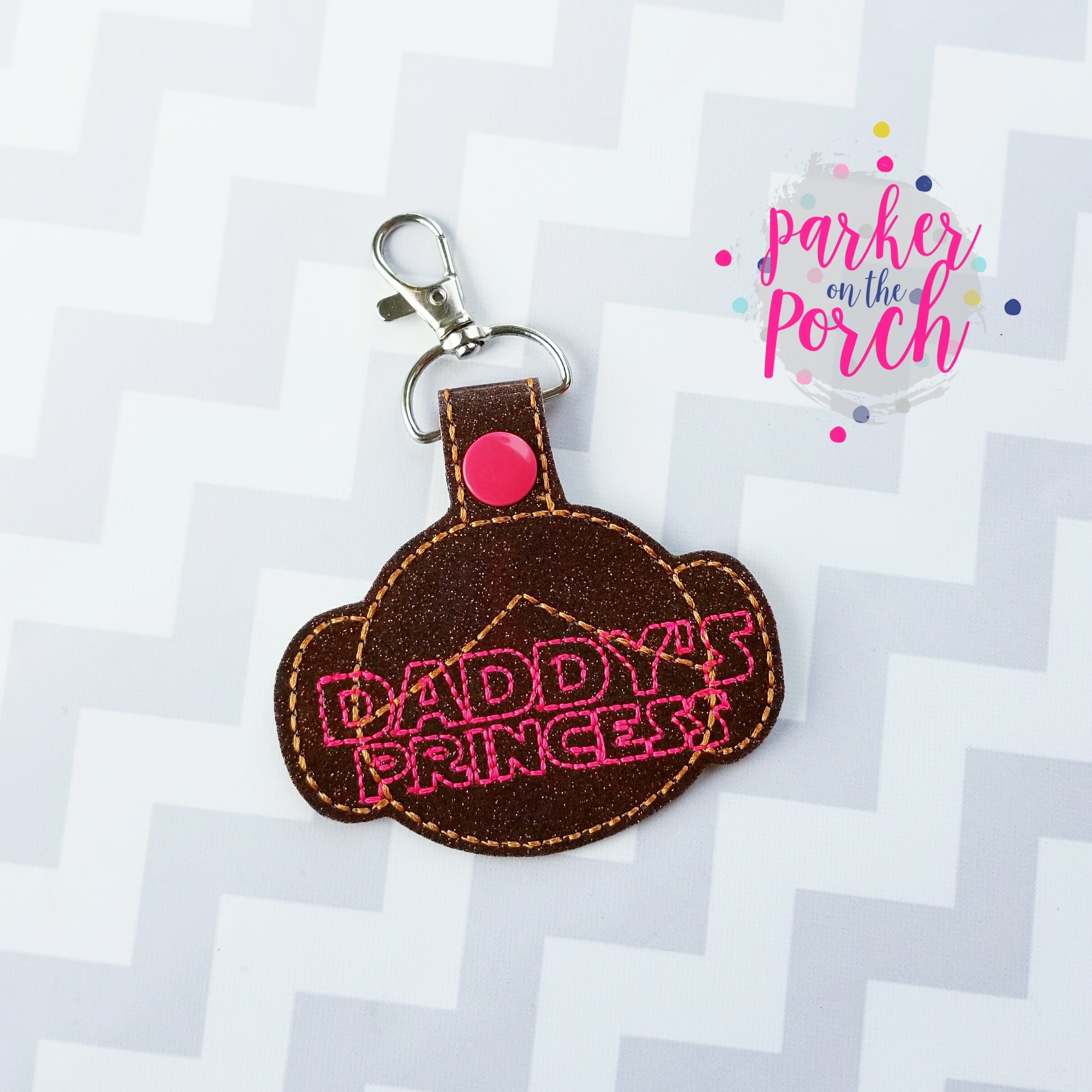 Digital Download- Daddy's Princess Snaptab - in the hoop machine embroidery
