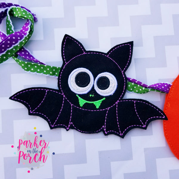 Digital Download- Ghoul Gang! Bat ITH Banner - in the hoop machine embroidery ITH pattern
