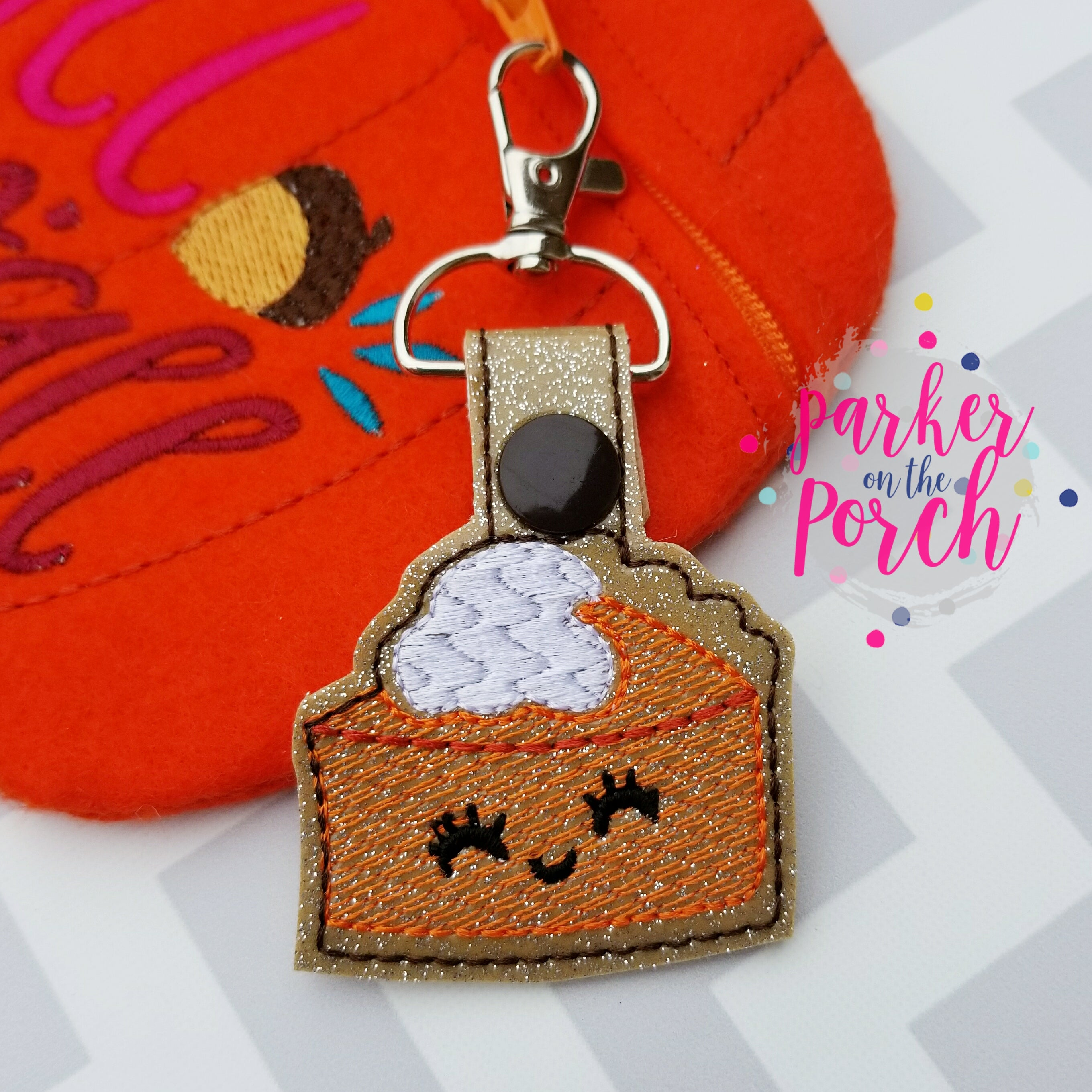 Digital Download- Pumpkin Pie Snaptab - in the hoop machine embroidery