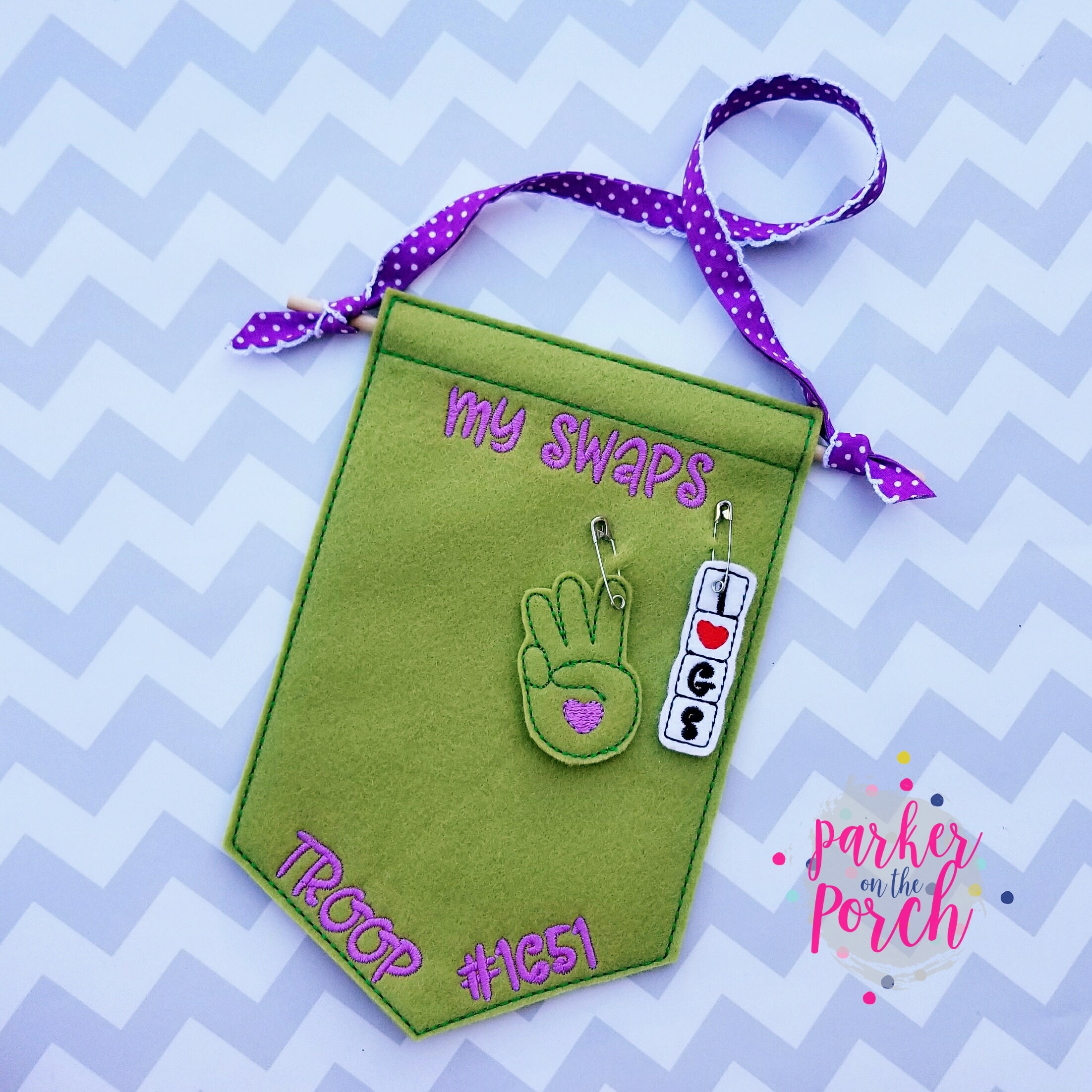 Digital Download- Scout Swap ITH Banner - in the hoop machine embroidery