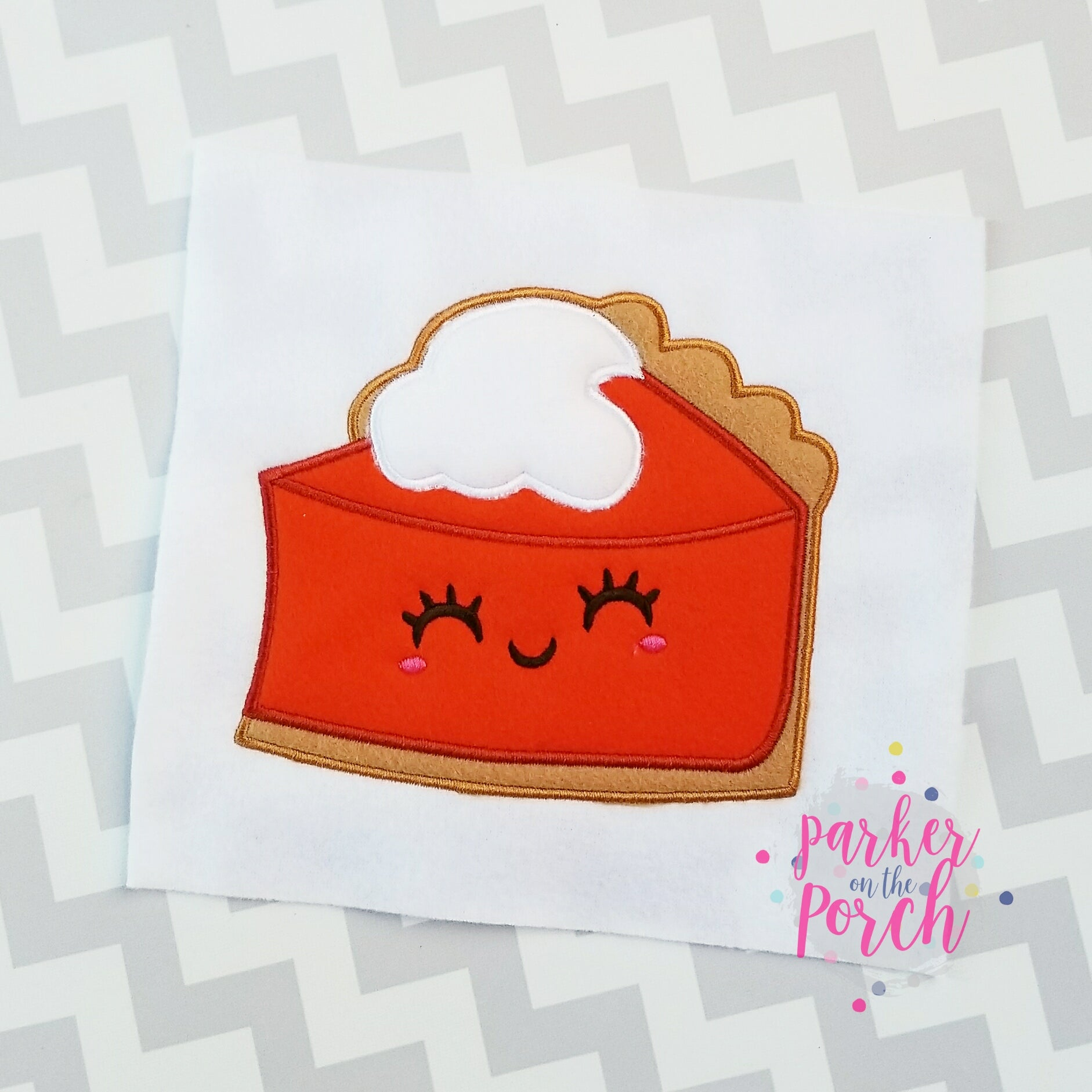 Digital Download- Pumpkin Pie Applique - in the hoop machine embroidery