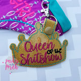 Digital Download- Mature - Queen of the Shitshow Snaptab - in the hoop machine embroidery ITH pattern