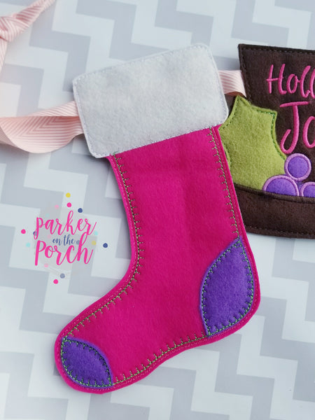 Digital Download- Stocking Banner - in the hoop machine embroidery ITH pattern