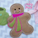 Digital Download- Gingerbread Man Banner - in the hoop machine embroidery ITH pattern