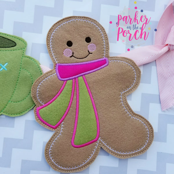Digital Download- Gingerbread Man Banner - in the hoop machine embroidery