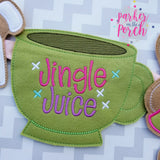 Digital Download- Jingle Juice Banner - in the hoop machine embroidery