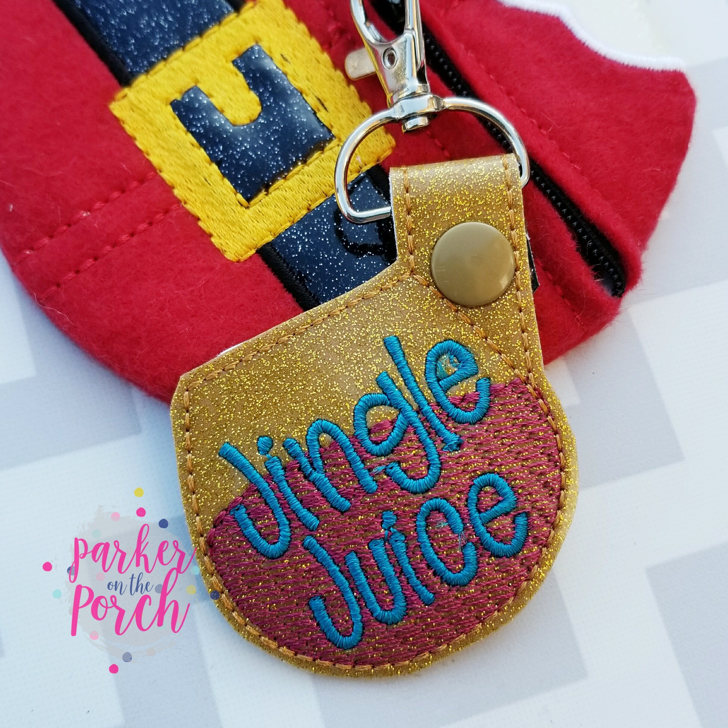 Digital Download- Jingle Juice Snaptab - in the hoop machine embroidery
