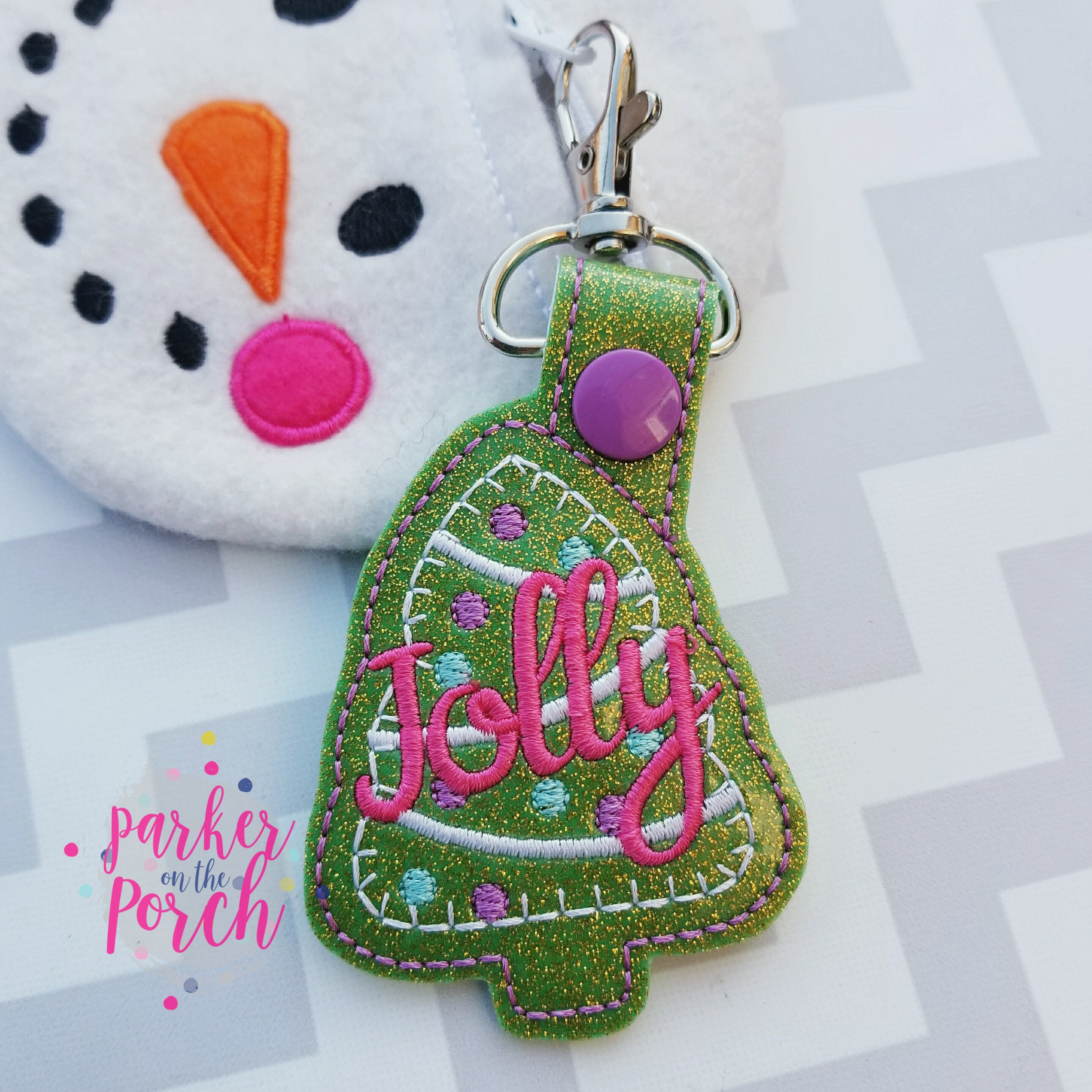 Digital Download- Jolly Snaptab - in the hoop machine embroidery