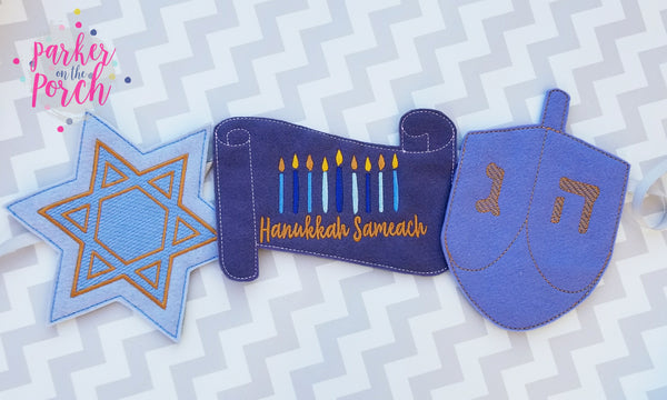 Digital Download- Hanukkah Banner set of 3