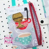 Digital Download - Pocket Keeper Zipper Bag - in the hoop machine embroidery ITH pattern
