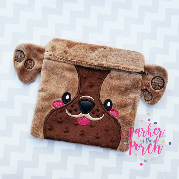 Digital Download- Bulldog Puppy Zipper Bag