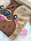 Digital Download - Bulldog Puppy Zipper Bag - in the hoop machine embroidery ITH pattern