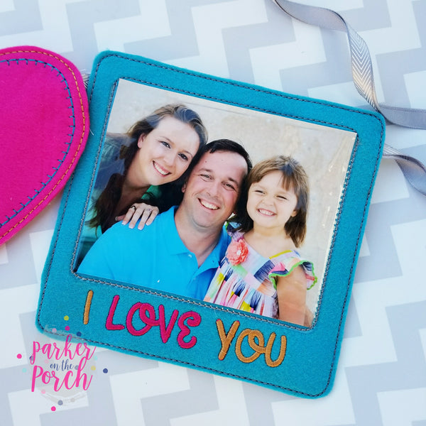 Digital Download- Photo Frame Banner - in the hoop machine embroidery